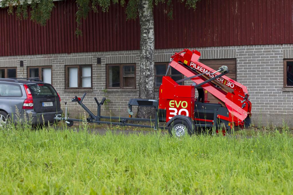 Pilkemaster vedmaskin med bensinmotor